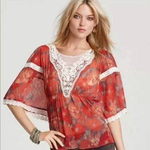 Free People Daydreamer Sheer Floral Crochet Large